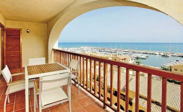 views of the sea from the balcony of altea port pet friendly apartments