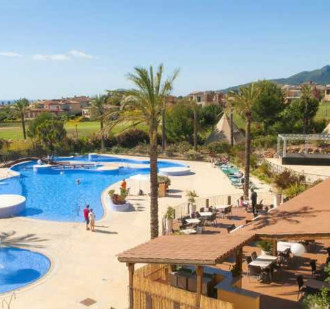 costa dorada pet friendly apartments swimming pool from room